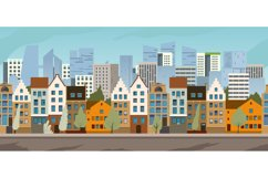 Old city street panoramic city landscape. Product Image 1