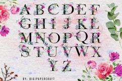 Romantic watercolor floral Monogram, Alphabets & Numbers set Product Image 2