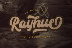 Rayhue - Retro Bold Script Font Product Image 1