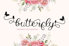 Butterfly - Modern Calligraphy Product Image 1