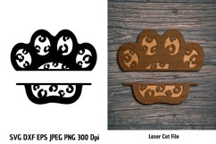 Animal Print Paw SVG| Pet Paw cutting files| Paw Print SVG Product Image 3