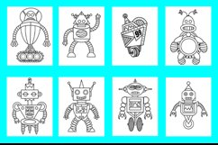 20 Robot Coloring Pages for Kids Printable PDF and PNG files Product Image 4