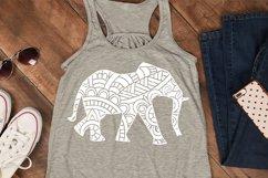 Elephant SVG | Mandala SVG | Zentangle SVG | Cricut Product Image 2