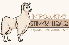 Stinky Llama - A Quirky Hand-Written Font Product Image 1