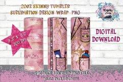 Dental Hygienist  20oz  Seamless  Skinny Tumbler Wrap Design Product Image 1