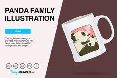 Panda Family Vector Illustration Product Image 3
