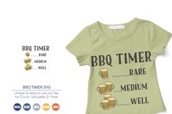 BBQ Timer SVG | Drinking Beer SVG Product Image 1