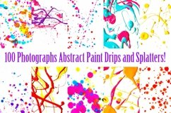 100 Photographs of Real Paint Splatters and Drips! Product Image 4