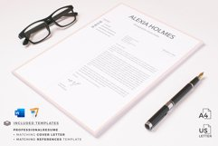 Resume and Cover Letter Template   Minimalist Resume CV Product Image 13