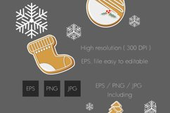 Christmas cookies clipart vol.3 Product Image 3