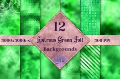 Lustrous Green Foil Backgrounds - 12 Image Textures Set Product Image 1