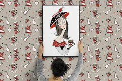 Tea time, Coffee party PNG SVG. Modigliani art Product Image 3