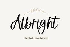 Albright - A Handwritten Script Font Product Image 1