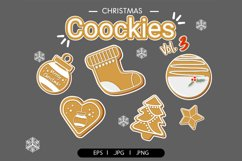 Christmas cookies clipart vol.3 Product Image 1