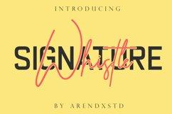 Whistle - Signature font Product Image 1