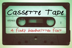 Cassette Tape a Funky Handwritten Font Product Image 1