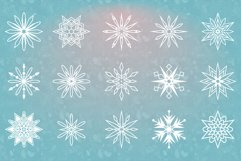 54 Vector Snowflakes Product Image 4