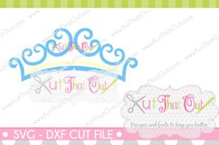 EXCLUSIVE Princess Crown Monogram Font Frame SVG & DXF Cut File Product Image 1