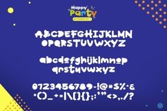 Web Font Happy Party Product Image 3