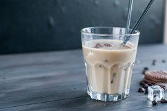 Iced coffee with milk in glass Product Image 1