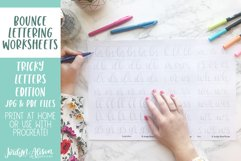 Hand Lettering Guides, Tricky Letter Combinations Worksheets Product Image 4
