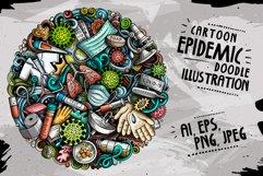 Cartoon vector doodles Epidemic round illustration Product Image 1