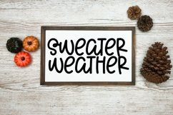 Web Font Cuddle Weather - A Cute Hand-Lettered Font Product Image 4