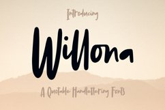 Willona - Quotable Handlettering Font Product Image 1
