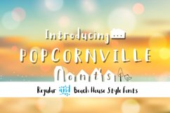 Popcornville font and beach house style - two style fonts Product Image 1