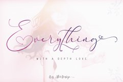 Everything Calligraphy - a Lovely Font Product Image 1