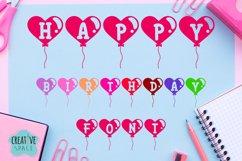 Happy Birthday Font Product Image 1