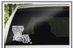 Zentangle Louisiana SVG Cut File For Silhouette - Cricut Product Image 2