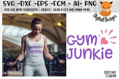 Gym Junkie Fitness Exercise SVG Product Image 1