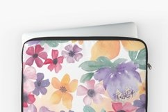 Watercolor flowers seamless pattern Colorful flowers clipart Product Image 6
