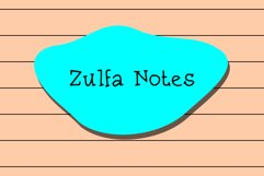 Zulfa Notes Product Image 1