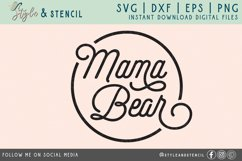 Mama Bear SVG   Mama   Mama Shirt Product Image 2