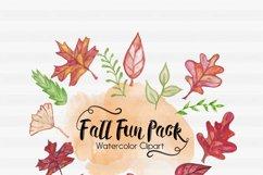Fall Clipart-Halloween Clipart-Pumpkin Clipart-Leaf Clipart-Foilage Clipart-Clipart-Watercolor leafs-Watercolor Halloween-Watercolor Pumpkin Product Image 1