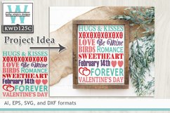Valentines SVG - Subway Art Product Image 1
