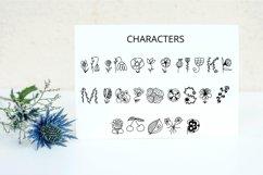 Dooflo - an amazing doodle floral font Product Image 6