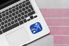 Laptop Sticker Mockup | 1 PSD with 5 JPG images Product Image 6