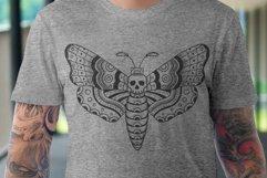 Death Head Moth Vector Design Product Image 1