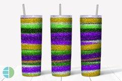Skinny Tumbler Sublimation Design - Mardi Gras Glitter Product Image 4
