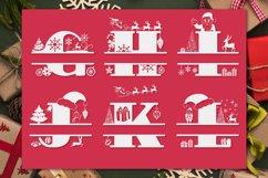 Christmas Monogram Alphabet   Christmas Split Letters Product Image 4