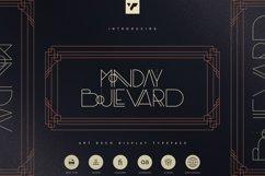 Monday Boulevard - Art Deco Typeface Product Image 1