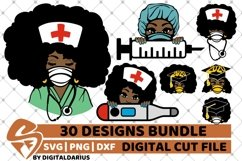 30x Amazing Nurse Bundle svg, Healthcare svg, Black History Product Image 2