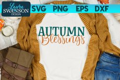 Autumn Blessings SVG Cut File - Thanksgiving SVG Cut File Product Image 2