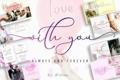 With You // Lovely Script Font Product Image 1
