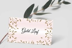 Gold Leaf Creative Business Card Template Product Image 3