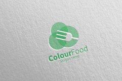 Color Food Logo for Restaurant or Cafe 67 Product Image 3