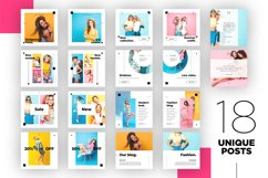 Colorful fashion Instagram 18 Posts Template | CANVA Product Image 8